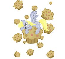 Derpy Muffin  Photographic Print