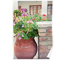 clay flowers- samos, greece Poster