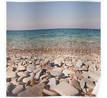 a rock's view- samos, greece Poster