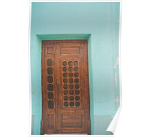 entry's in turquoise- samos, greece Poster