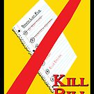 Original Kill Bill minimalist movie poster by deeceethered
