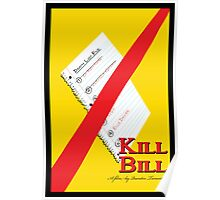 Original Kill Bill minimalist movie poster Poster