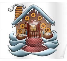 Joy is a Gingerbread Donut House Poster
