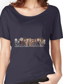 Doctor who comic style doctors  Women's Relaxed Fit T-Shirt