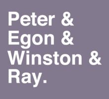 Peter & Egon & Winston & Ray T-Shirt Kids Clothes