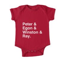 Peter & Egon & Winston & Ray T-Shirt One Piece - Short Sleeve