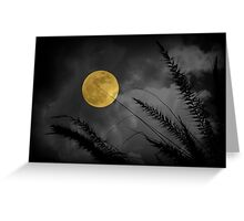 A Golden Supermoon Greeting Card