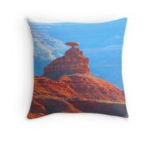 the Mexican Hat, Utah Throw Pillow