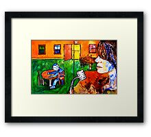 And then there was Blue Framed Print