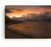 Sunset, Fury And Solitude On Georgian Bay - Part 1 © Canvas Print