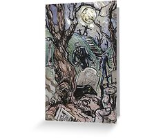 Zombie Graveyard Greeting Card