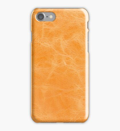 Yellow leather texture  iPhone Case/Skin