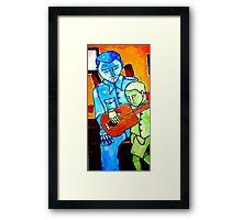 Banjo Lesson Revisited Framed Print