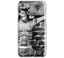 Black and white jesus iPhone Case/Skin