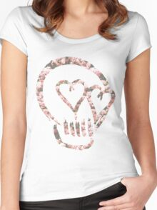5sos Skull flowers Women's Fitted Scoop T-Shirt