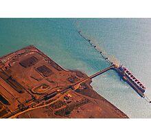 Pilbara Aerial Landscape - Industry & Ocean Photographic Print