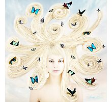 Butterfly girl Photographic Print
