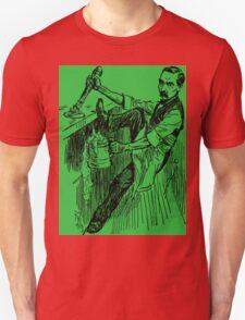 Barkeep on the Job (Green Background) T-Shirt
