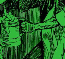 Barkeep on the Job (Green Background) Sticker