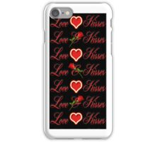 LOVE & KISSES IPHONE CASE iPhone Case/Skin