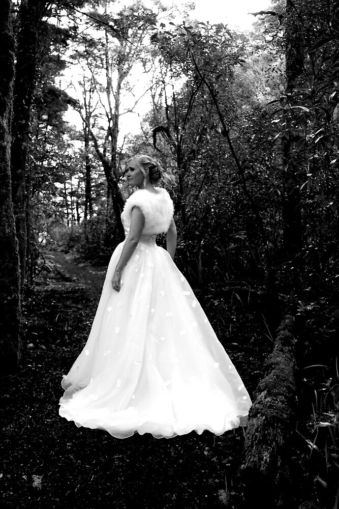 Bride in Native New Zealand by AngeliqueSinton