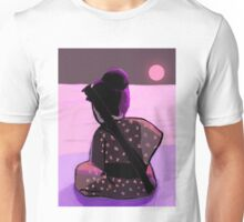 Lonely samurai and moonlight T-Shirt
