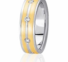 Gold wedding bands by weddingbands25