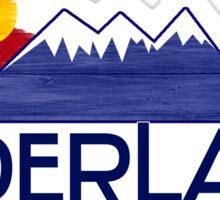 Nederland Colorado wood mountains Sticker