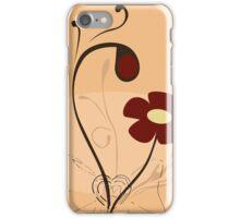 Retro floral pattern iPhone Case/Skin