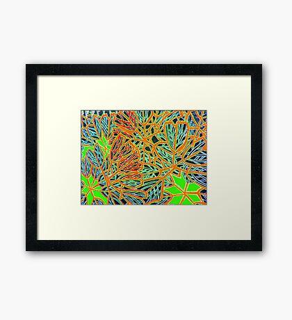 Leaf contours Framed Print