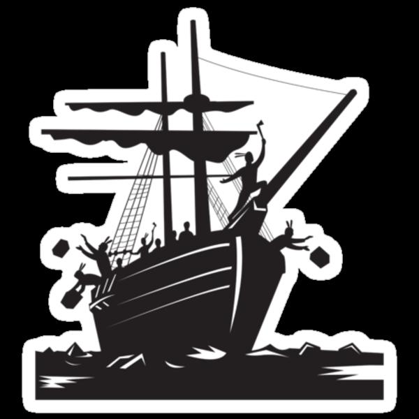 Boston Tea Party Raiders Retro  by patrimonio