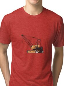 Construction Crane Hoist Retro  Tri-blend T-Shirt