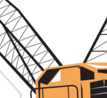 Construction Crane Hoist Retro  Sticker