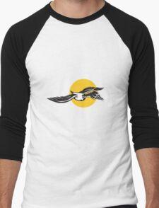Mallard Duck Goose Flying  Men's Baseball ¾ T-Shirt