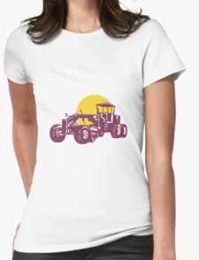 Vintage Road Grader Retro  Womens Fitted T-Shirt