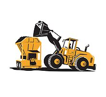 Front End Loader Digger Excavator Retro  by patrimonio