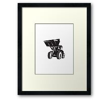 Front End Loader Digger Excavator Retro  Framed Print
