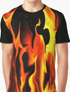 Black Fire-Available As Art Prints-Mugs,Cases,Duvets,T Shirts,Stickers,etc Graphic T-Shirt
