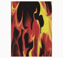 Black Fire-Available As Art Prints-Mugs,Cases,Duvets,T Shirts,Stickers,etc One Piece - Long Sleeve