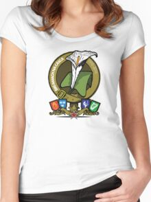 The Easter Lily Badge Women's Fitted Scoop T-Shirt