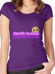 Carol's Cookies - The Walking Dead Women's Fitted Scoop T-Shirt