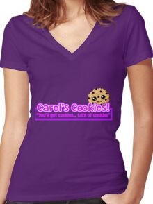 Carol's Cookies - The Walking Dead Women's Fitted V-Neck T-Shirt