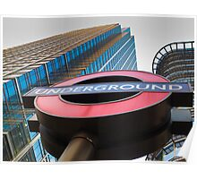 Canary Wharf Tube Sign Poster