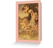 Valentine-Three Cupids Greeting Card
