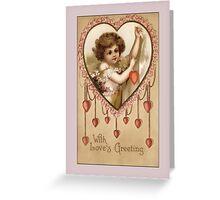 Valentine-Loves Greetings Greeting Card