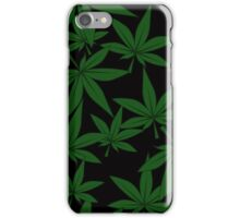 marijuana pattern iPhone Case/Skin