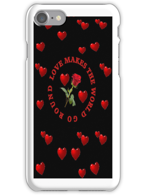 *•.¸♥♥¸.•*LUV MAKES THE WORLD GO ROUND IPHONE CASE*•.¸♥♥¸.•* by ✿✿ Bonita ✿✿ ђєℓℓσ