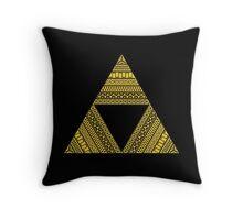 Aztec triforce Throw Pillow