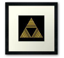 Aztec triforce Framed Print