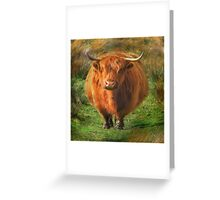 """Fat Cow"" Greeting Card"